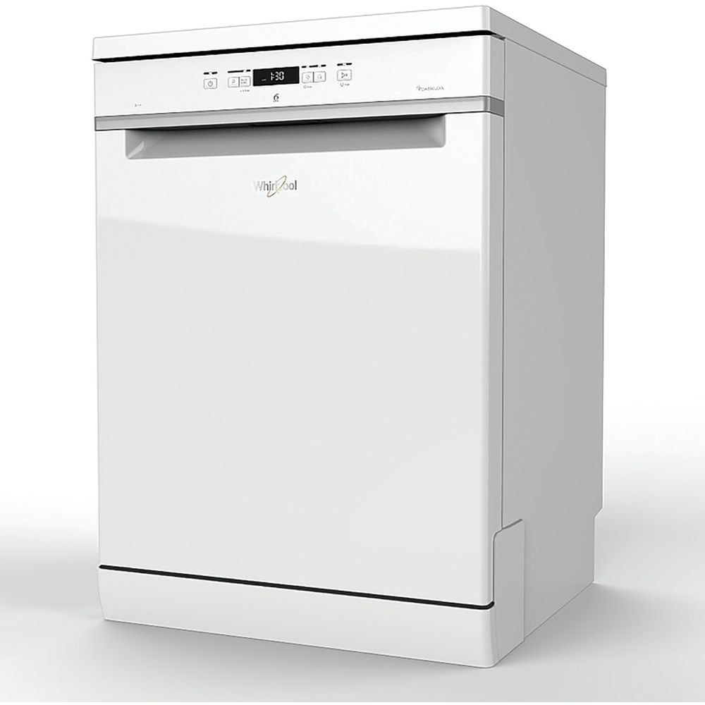 powercity wfc3c24p uk white whirlpool 14 place 9 litre power clean multizone dishwasher. Black Bedroom Furniture Sets. Home Design Ideas