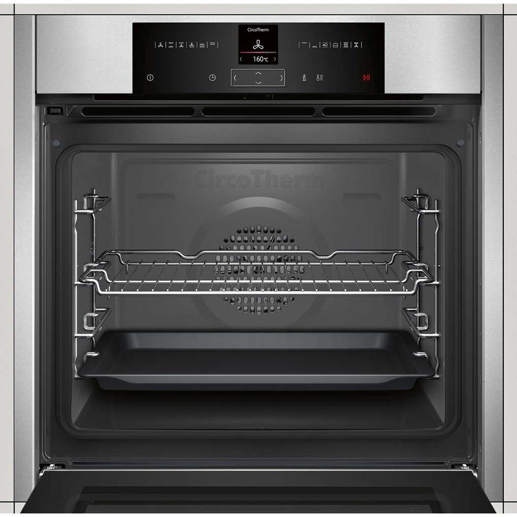 Powercity b15cr32n1b neff n 70 multi function eco top bottom built in oven single electric - Neff single oven with grill ...